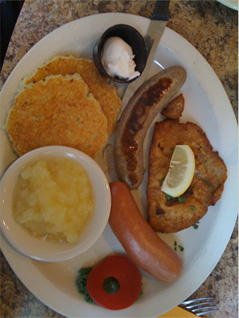 The German Sampler at Max's (Corey's Meal)
