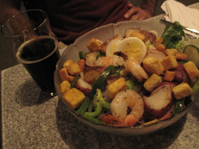 Mark's Shimp Salad at Fat Head's