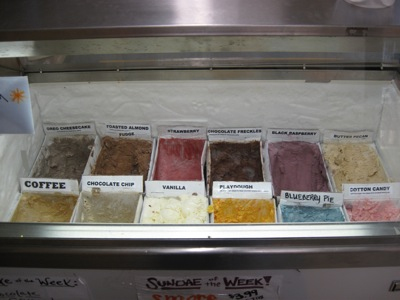 Rose's Ice Cream Selection (left)
