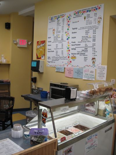 Interior at Rose's Ice Cream